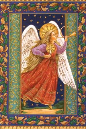 Листівка з янголом