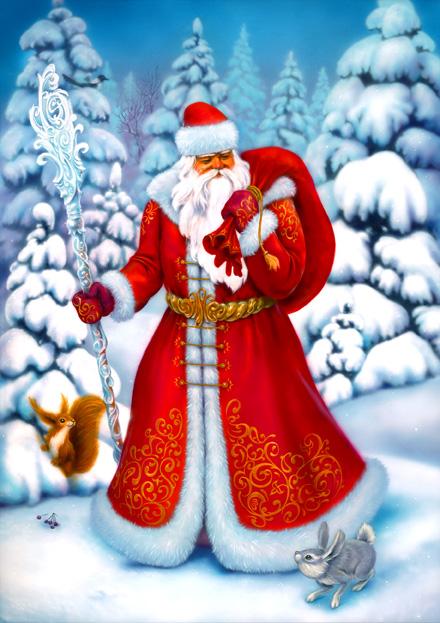 Листівка з Дідом Морозом